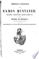 Crónica catalana de Ramón Muntaner
