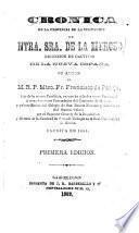 Cronica de la provincia de la visitacion de Ntra. Sra. de la Merced