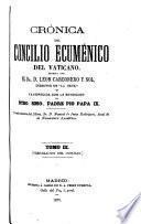 Crónica del Concilio ecuménico del Vaticano