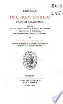 Crónica del Rey Enrico Otavo de Ingalaterra [sic]