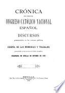 Crónica del tercer Congreso Católico Nacional Español