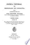 Crónica universal del Principado de Cataluña
