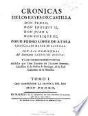 Cronicas de los reyes Castilla