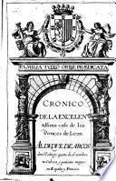 Cronico de la excellentissima Casa de los Ponces de Leon