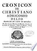 Cronicon de Christiano Adricomio ...