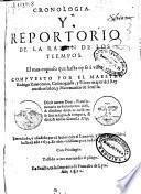 Cronologia y reportorio de la razon de los tiempos