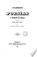 Cuaderno de poesías y escritos en prosa