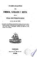 Cuadro analitico del comercio, navegación y rentas de la isla de Puerto-Rico en el año de 1843