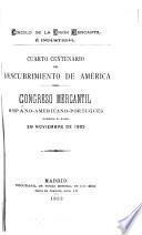 Cuarto centenario del descubrimiento de América
