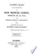 Cuenta dada de su vida política por Don Manuel Godoy, príncipe de la Paz