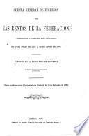 Cuenta general de ingresos de las rentas de la federacion