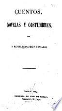 Cuentos, novelas y costumbres