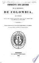 Cuerpo de leyes de la republica de Colombia