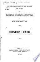 Cuestion Luxor