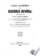 Curso académico de la elocuencia española