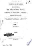 Curso completo elemental de matemáticas puras