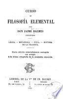 Curso de filosofía elemental