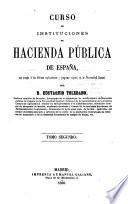Curso de instituciones de hacienda pública de España