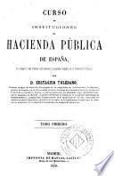 Curso de instituciones de Hacienda Pública en España