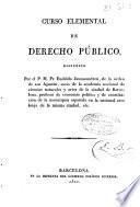 Curso elemental de Derecho Público