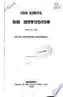 Curso elemental de estudios para el uso de la juventud española
