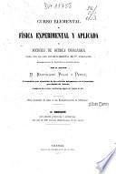 Curso elemental de física experimental y aplicada