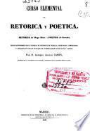 Curso elemental de retórica y poética