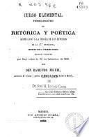 Curso elemental teórico-práctico de retórica y poetica