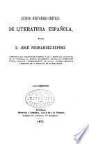 Curso histórico-crítico de literatura española
