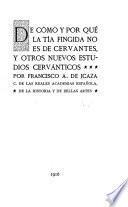 De cómo y por qué La tía fingida no es de Cervantes