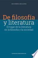 De filosofía y literatura