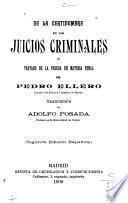 De la certidumbre en los juicios criminales