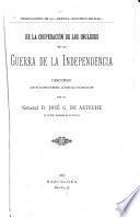De la cooperación de los Ingleses en la guerra de la independencia