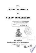 De la divina autoridad del Nuevo Testamento