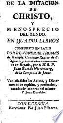 De la imitación de Christo y menosprecio del mundo, en quatro libros