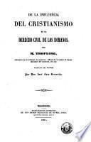 De la influencia del cristianismo en el derecho civil de los romanos