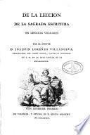 De la leccion de la Sagrada Escritura en lenguas vulgares