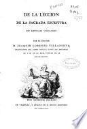 De la lección de la Sagrada Escritura en lenguas vulgares