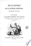 De la lección de la sagrada escritura en lenguas vulgares por el doctor