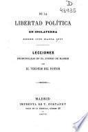 De la libertad política en Inglaterra: Desde 1689 hasta 1837