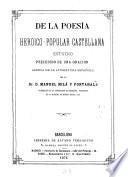De la poesía heroico-popular castellana