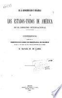 De la representación é influencia de los Estados-Unidos de América en el derecho internacional