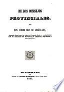 De los consejos provinciales, por Isidoro Diaz de Arguelles
