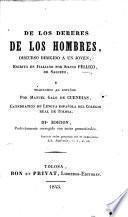 De los deberes de los hombres ... traducido al español por Manuel Galo de Cuendias ... IIIa edición perfectamente corregida con notas gramaticales