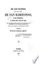 De los sucesos del real sitio de San Ildefonso