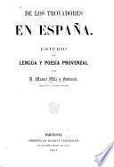 De los trovadores en España
