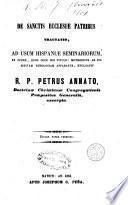 De Sanctis ecclesiae Patribus