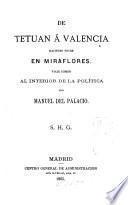 De Tetuan á Valencia, haciendo noche en Moraflores