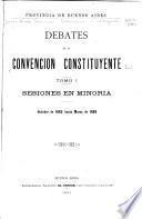 Debates de la Convención constituyente