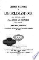 Deberes y espiritu de los eclesiásticos